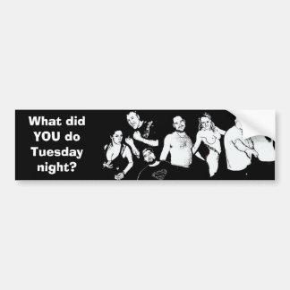 Qué lo hizo USTED hace pegatina para el parachoque Etiqueta De Parachoque