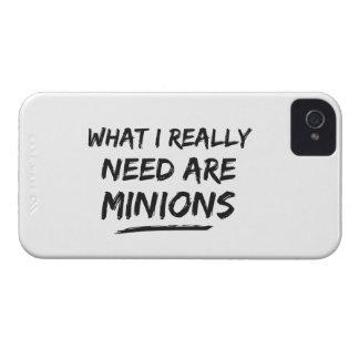 Qué necesito realmente son los subordinados iPhone 4 Case-Mate protectores