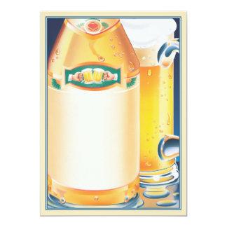 ¡Qué! ¿Ninguna cerveza? © Invitación 12,7 X 17,8 Cm