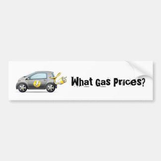 ¿Qué precios de la gasolina? Pegatina para el para Pegatina Para Coche