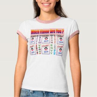 ¿Qué sabor es usted? ¡rosa tridimensional! Camiseta