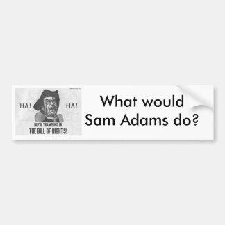 Qué Sam Adams haría Pegatina Para Coche