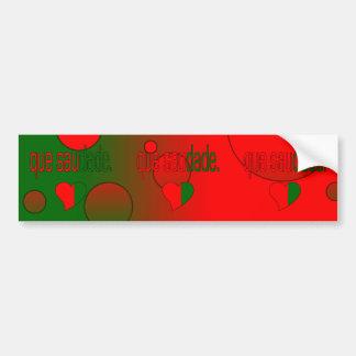 ¡Que Saudade! La bandera de Portugal colorea arte  Pegatina Para Coche