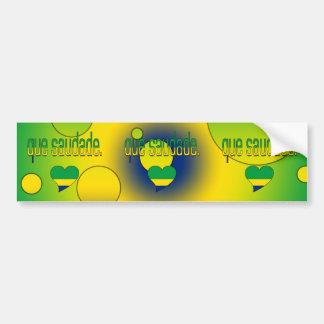 ¡Que Saudade! La bandera del Brasil colorea arte Pegatina Para Coche