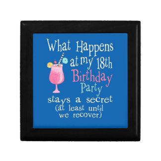 Qué sucede en mi décimo octavo cumpleaños caja de regalo