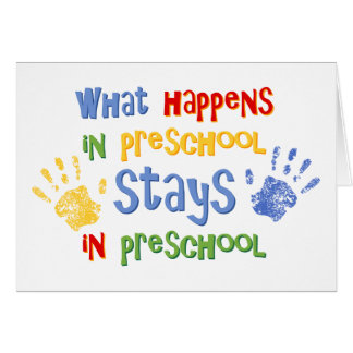 Qué sucede en preescolar tarjetón