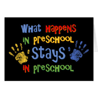 Qué sucede en preescolar tarjeta
