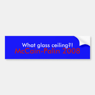 ¡Qué techo de cristal?! , Pegatina para el paracho Pegatina Para Coche