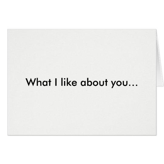 Qué tengo gusto sobre usted de la tarjeta