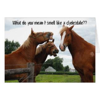 Qué usted significan el olor de I como una tarjeta