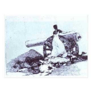 ¿Qué valor? por Francisco Goya Postal