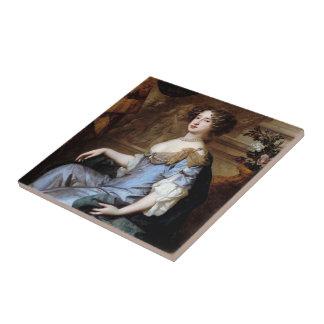 Queen Mary II de sir Peter Lely Azulejo