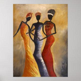 Queens africano póster