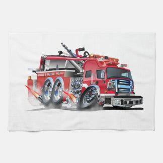 quemadura del firetruck paño de cocina