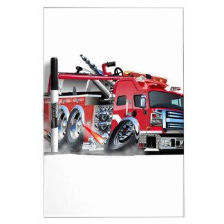 quemadura del firetruck pizarra blanca