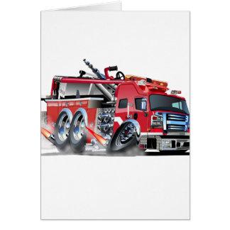 quemadura del firetruck tarjeta