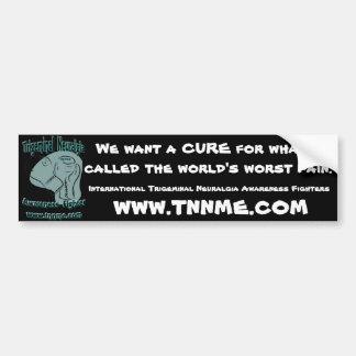 Queremos una etiqueta engomada de parachoques de l pegatina para coche