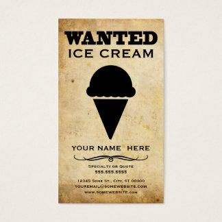 querido: helado tarjeta de negocios