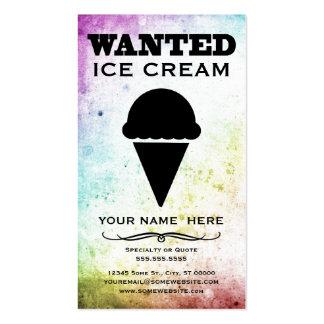 querido: helado tarjetas de visita