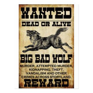 Querido: Mún lobo grande Postal