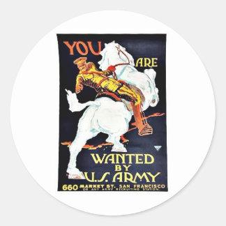 Querido por Ejército del EE UU Etiquetas Redondas