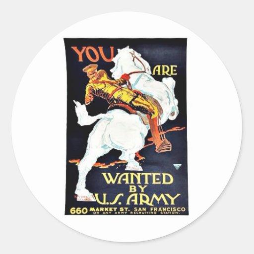 Querido por Ejército del EE. UU. Etiquetas Redondas
