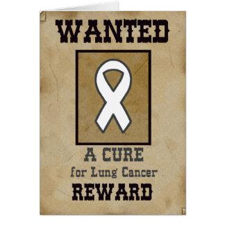 Querido: Una curación para el cáncer de pulmón Tarjeta De Felicitación