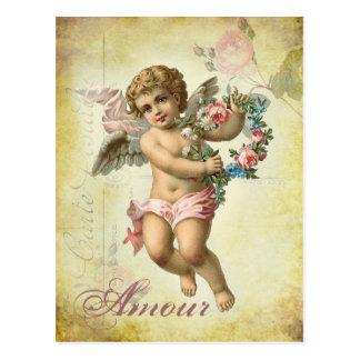 Querube de la tarjeta del día de San Valentín -