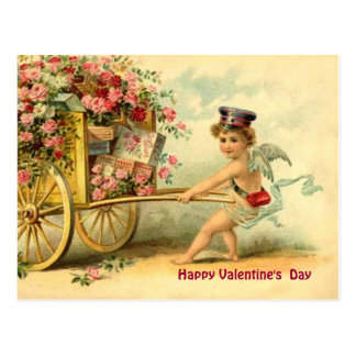 Querube de la tarjeta del día de San Valentín del