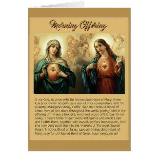 Querubes inmaculadas sagradas de los ángeles de tarjeta