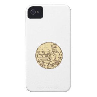 Quesero que hace el dibujo del círculo del queso carcasa para iPhone 4