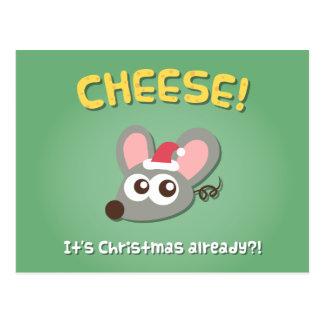 Queso del ratón su postal del humor del retruécano