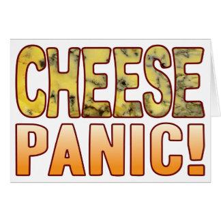 Queso verde del pánico tarjeta de felicitación