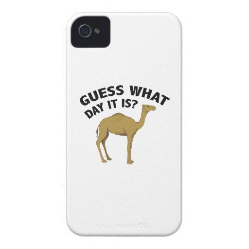 ¿Quess qué día es? iPhone 4 Case-Mate Cárcasa