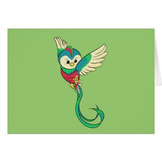 ¡Quetzal colorido! Tarjeta