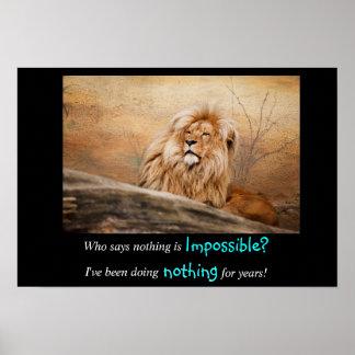 Quién dice nada es imposible cita póster