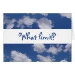 """¿Quién dice que """"el cielo es el límite""""? Tarjetón"""
