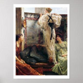 """¿""""Quién es él? """", 1884 (aceite en lona) Póster"""