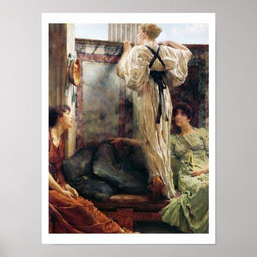 """¿""""Quién es él? """", 1884 (aceite en lona) Impresiones"""