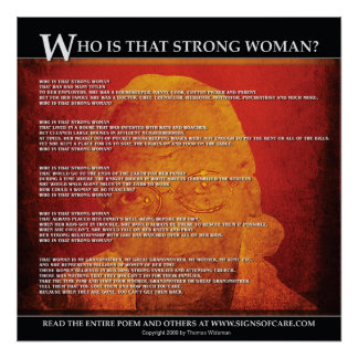 ¿Quién es esa mujer fuerte? - poster Póster