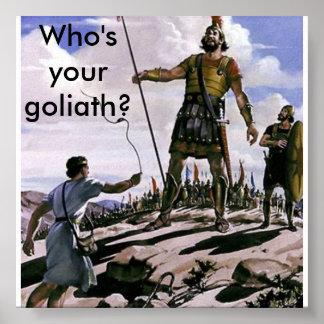 ¿Quién es su Goliat? Póster