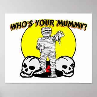 Quién es su momia póster