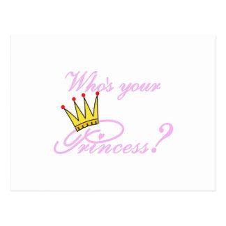 ¿Quién es su princesa? Postal