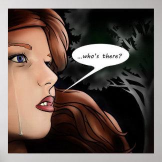 ¿… quién está allí? impresiones