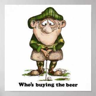 Quién está comprando la cerveza póster