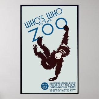 quién está quién en el parque zoológico impresiones
