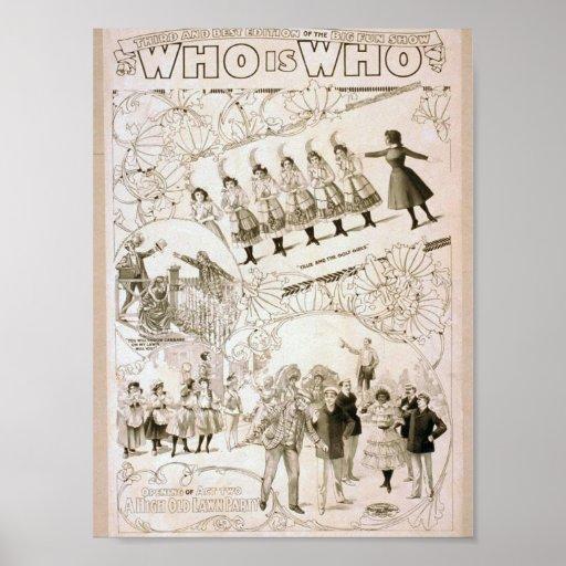 Quién está quién teatro del vintage posters
