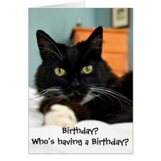 ¿Quién está teniendo un cumpleaños? Tarjeta de