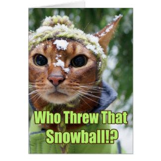 ¿Quién lanzó esa bola de nieve!? Tarjeta Pequeña