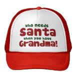 Quién necesita a Papá Noel Gorros Bordados